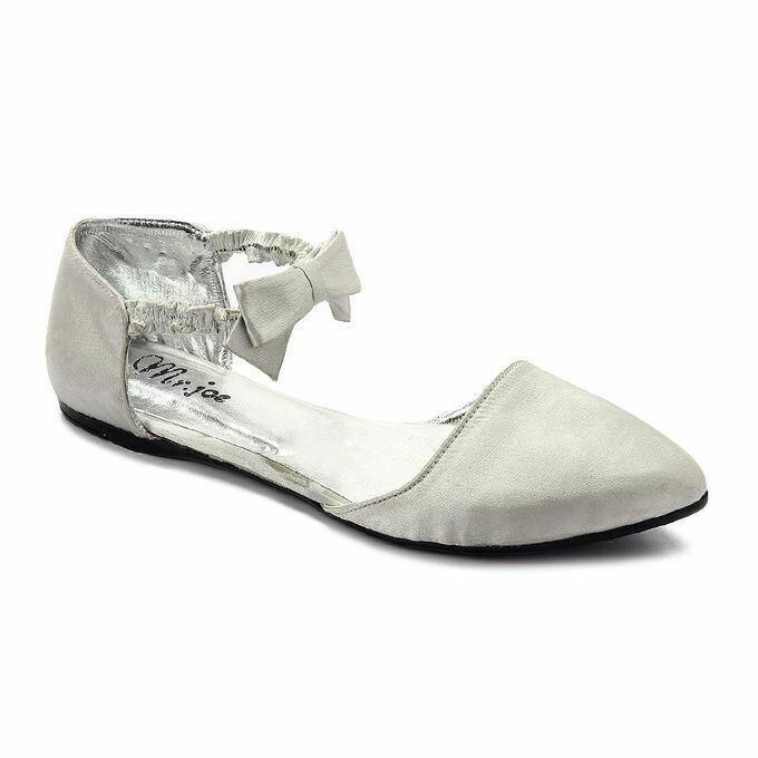 3268  Satan Flat Shoes - Silver