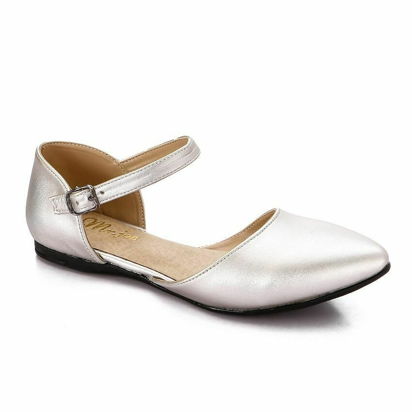 3345 Ballet Flat Shoes -Silver
