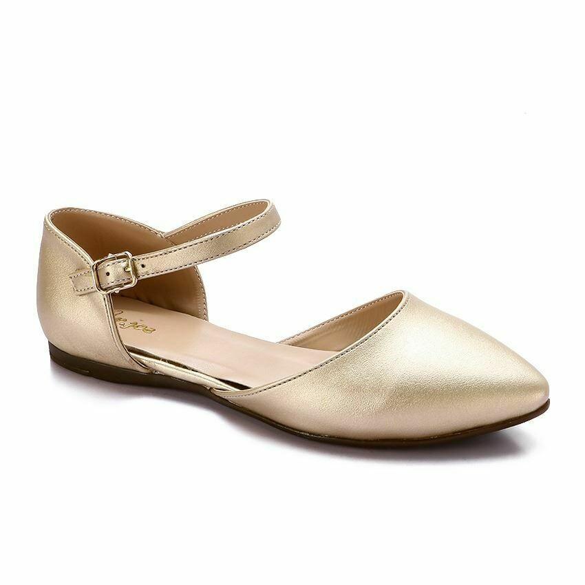 3345 Ballet Flat Shoes - Gold