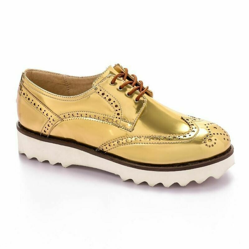 3377 Shoes - Light Gold