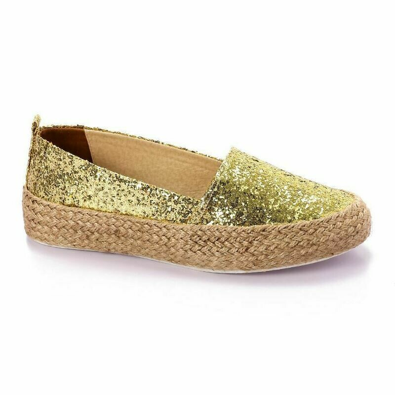 3365 Casual Sneakers - Gold Glitter