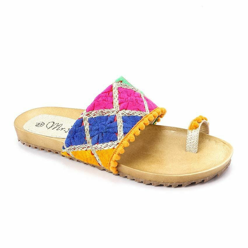 3384 Slipper - Fuchsia*yellow