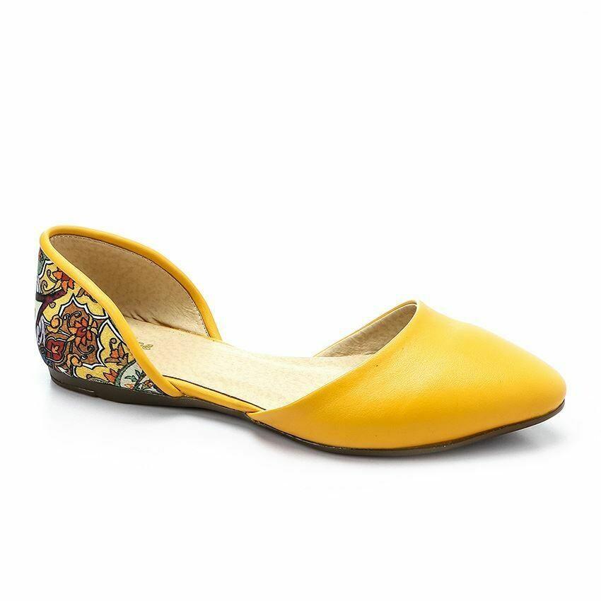 3358 Ballet Flat Shoes - Yellow