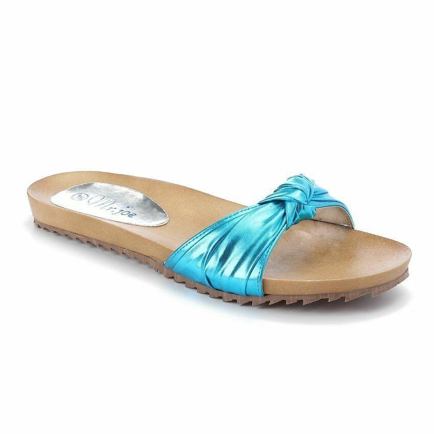 3241 Slipper - Turquoise