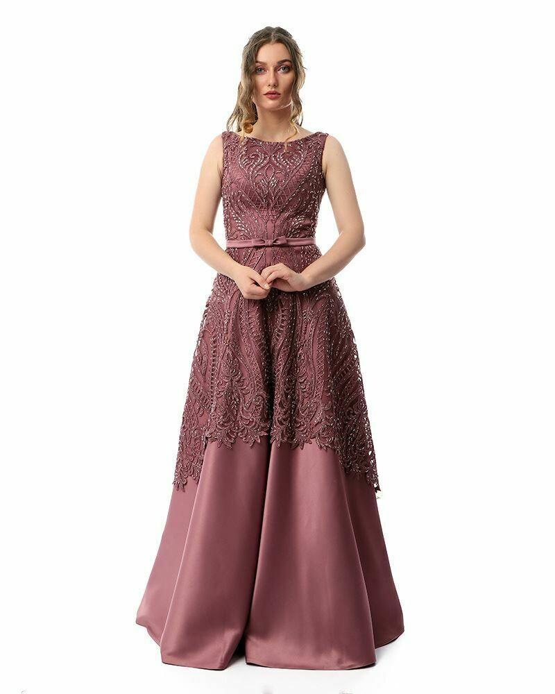 8430Soiree Dress -  Dark Cashmer