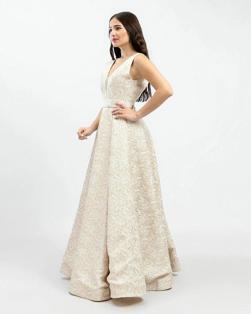 8379 Soiree Dress - Gold