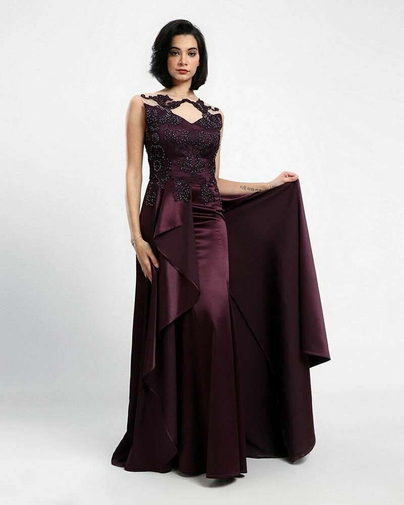 8381 Soiree Dress - Purple