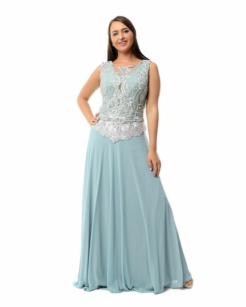 8425 Soiree Dress - Baby blue