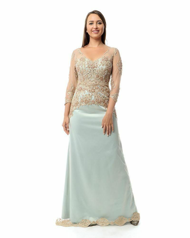 8422 Soiree Dress - Light Blue