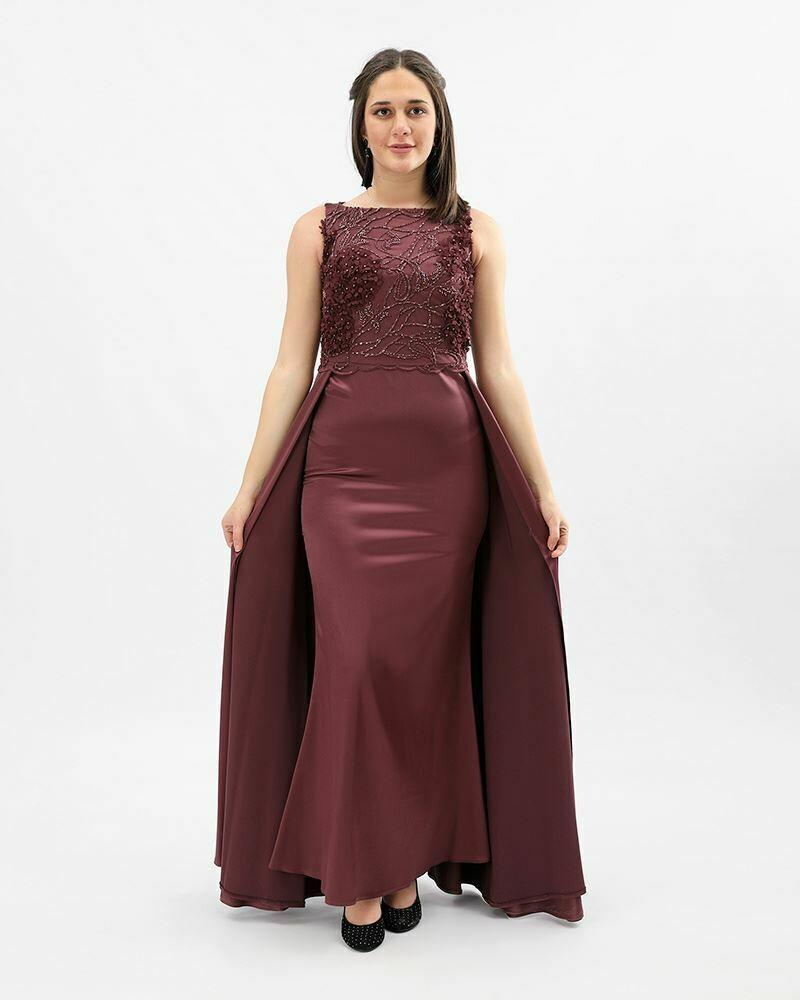 8371 Soiree Dress - Burgundy