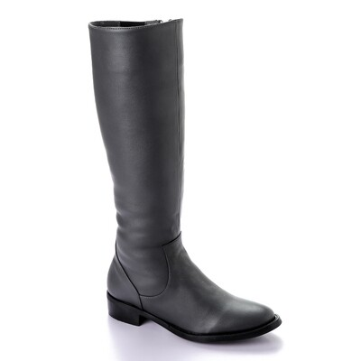 3409 - Leathe Boot - Gray