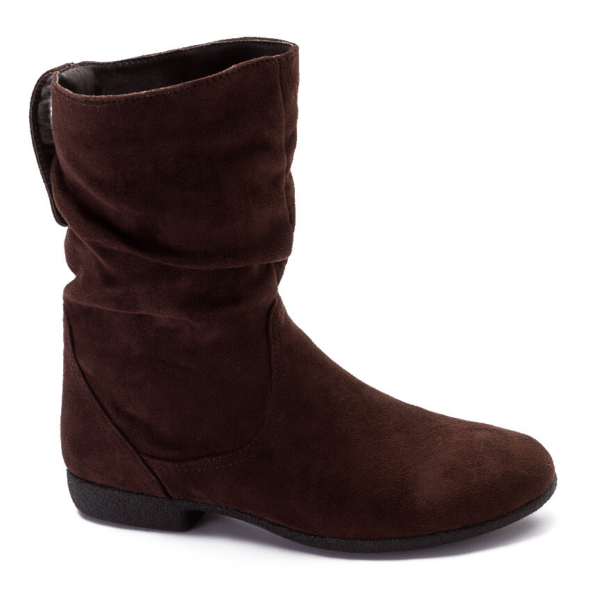 3196 Half Boot -Brown Su