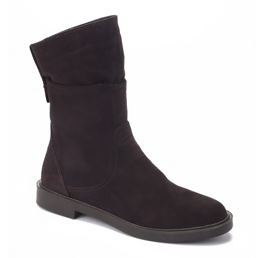 3218 Half boot Suded brown