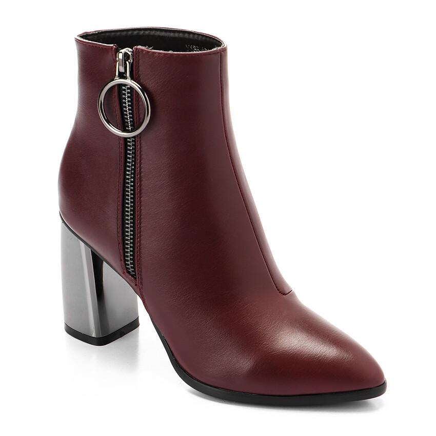 3297 Half Boot -burgundy