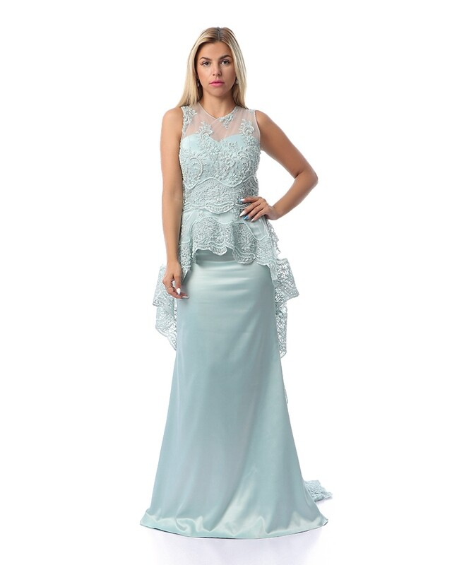 8443 Soiree Dress - Baby blue