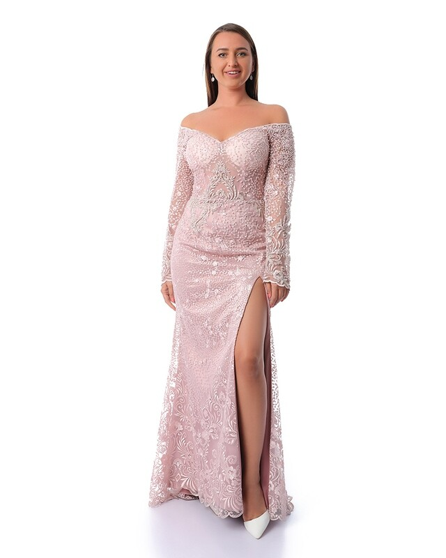 8447 - Soiree Dress- rose