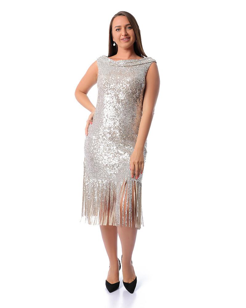8448 -Soiree Dress -silver