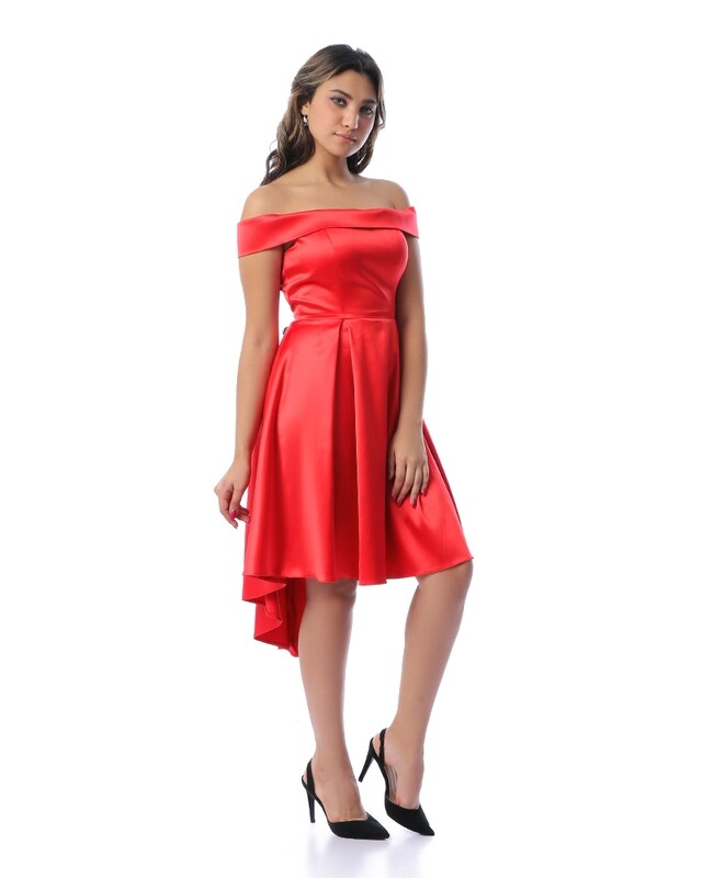 8304Soiree Dress -red