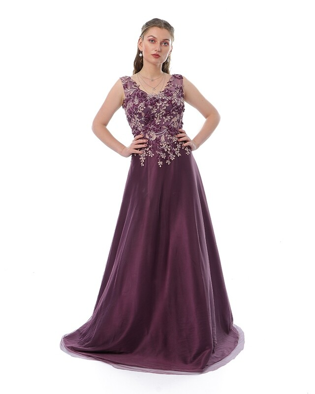 8441 Soiree Dress -purple