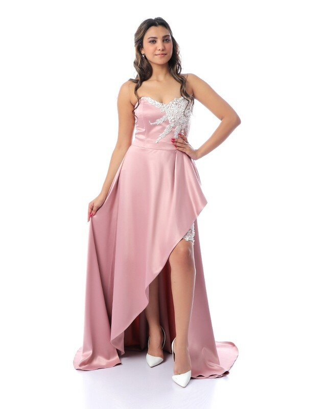8434 Soiree Dress - rose
