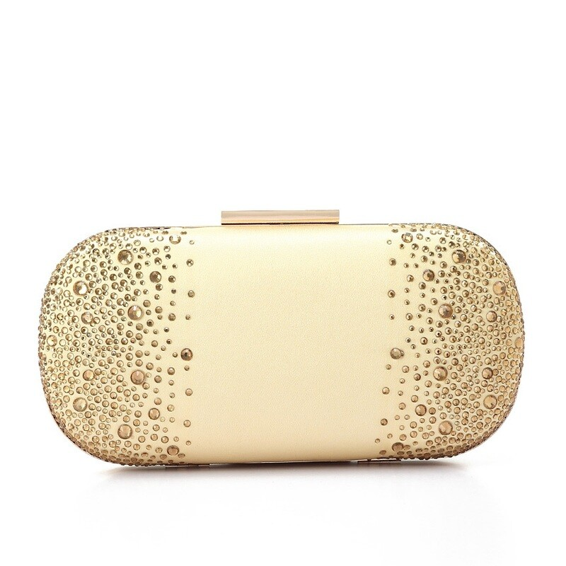 4051 Satin Clutch Bag -gold
