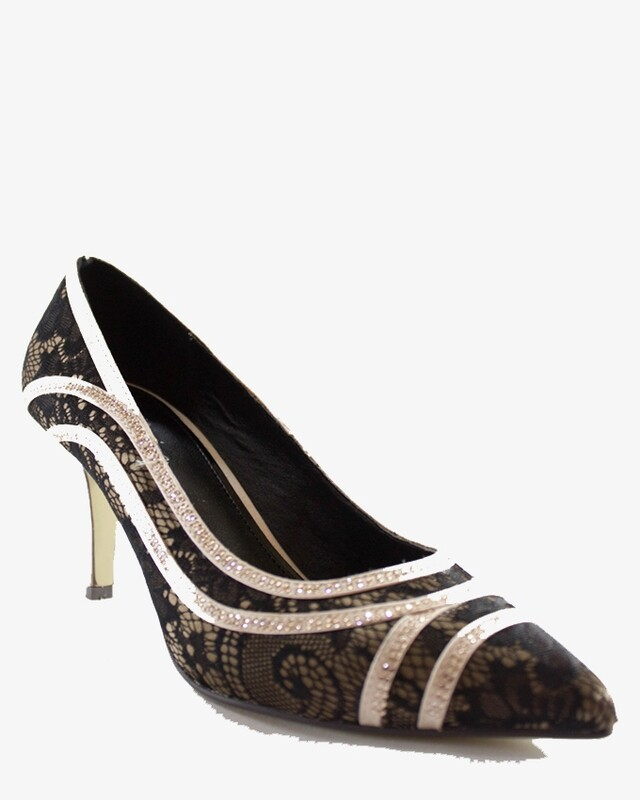 3596 Strass Pumps - Black * Champ
