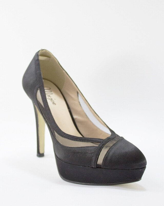 3597 Heeled satin Pumps - Black