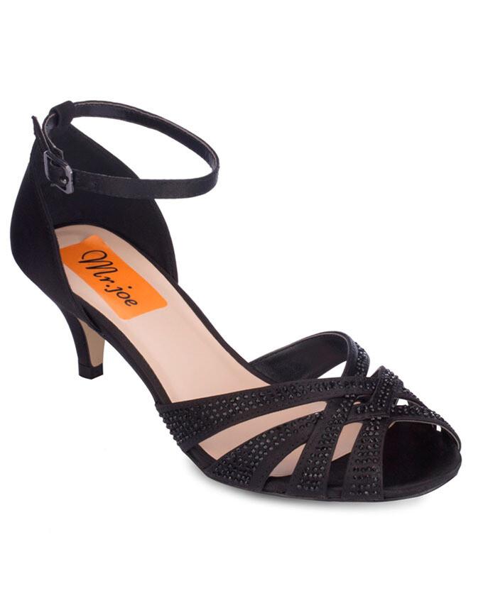 3714 Sandal Heeled  - Black