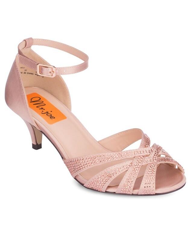 3714 Sandal Heeled  - Champagne