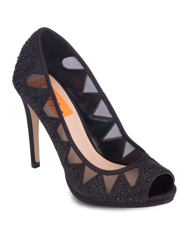3717 Soriree Open Toe Heeled  - Black