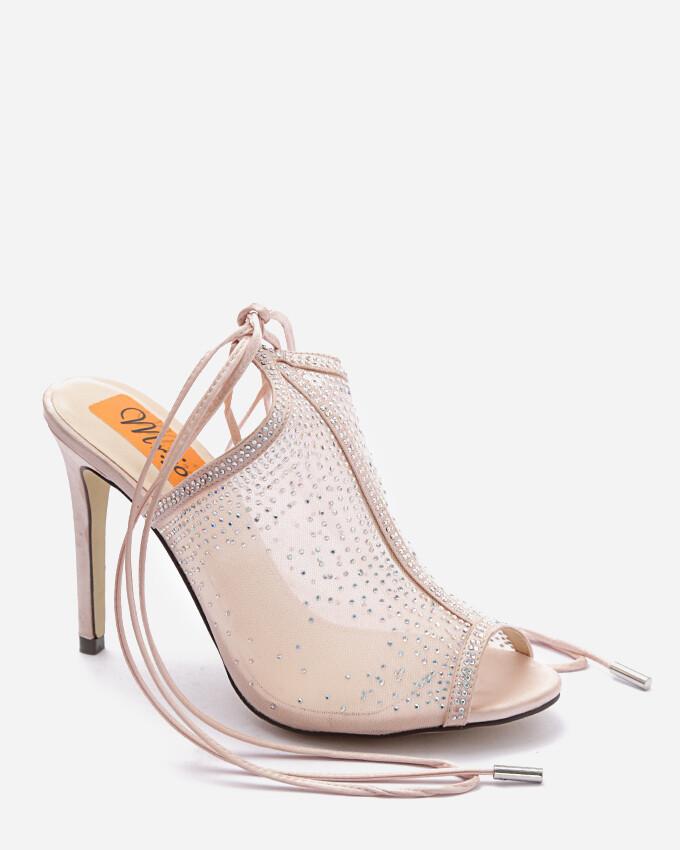 3718 Open Toe Heeled  - Champagne