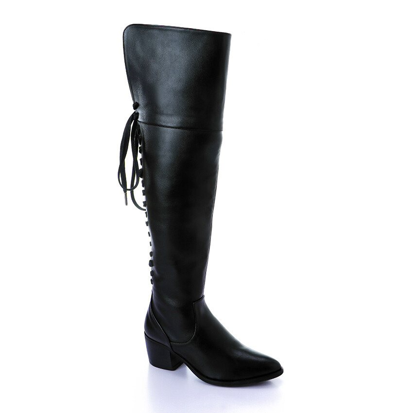 3414 Knee High Boot - Black