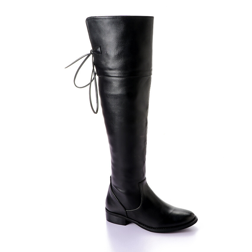 3411 Knee High Boot - Black