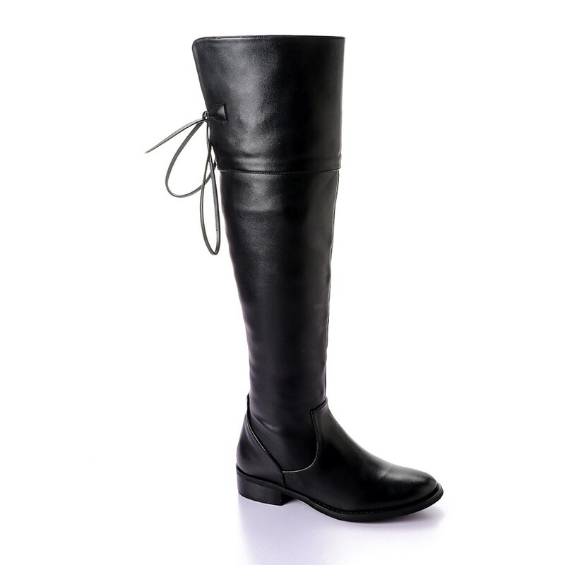 3411 Knee High Boot - Black