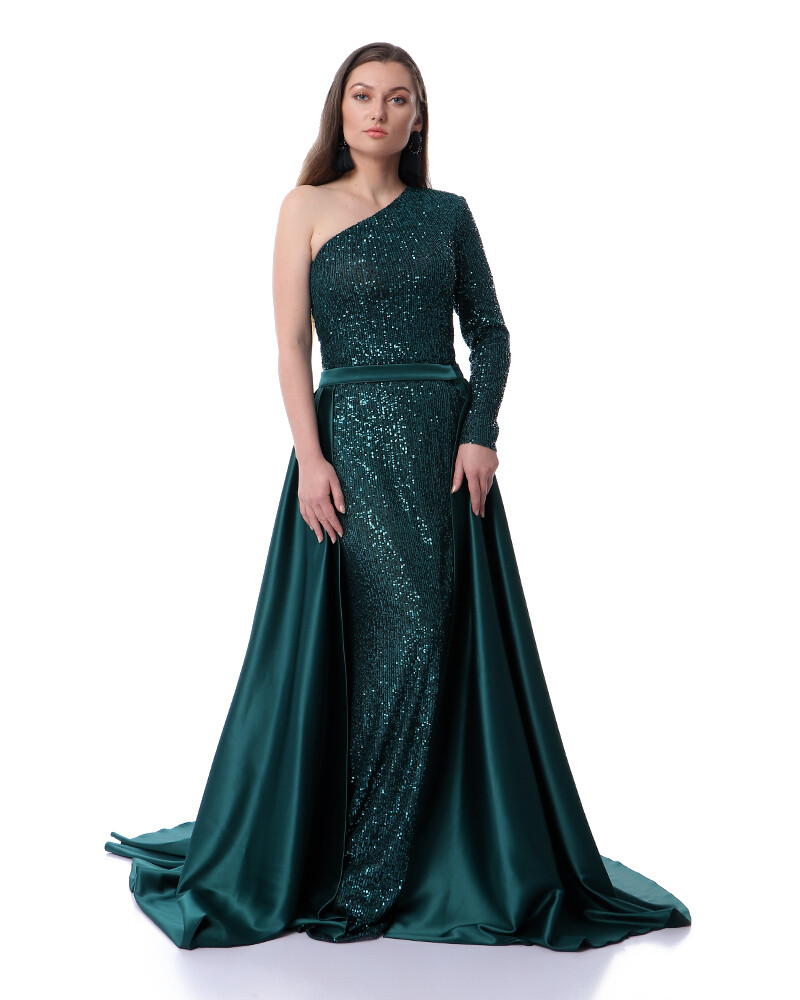8469 Soiree Dress - Dark Green