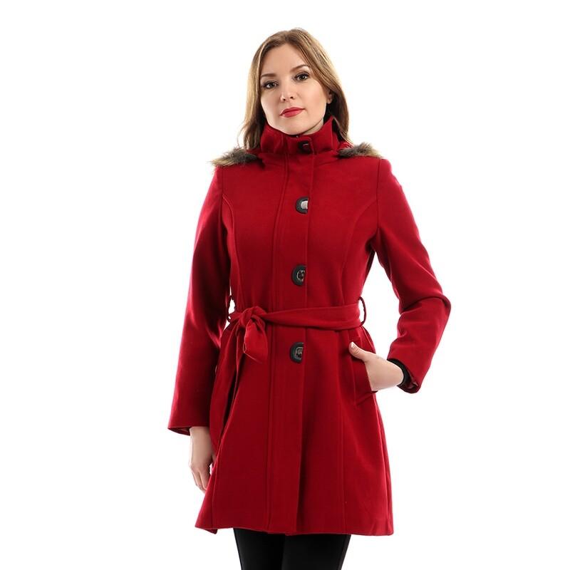 8194 Coat -Burgundy