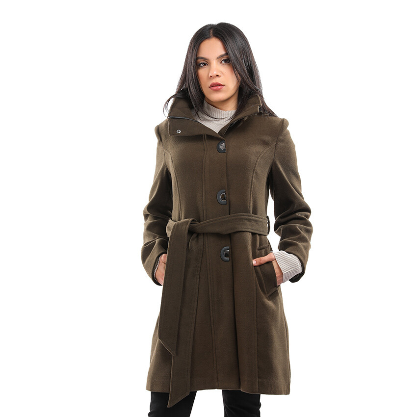 8194 Coat -Dark Green