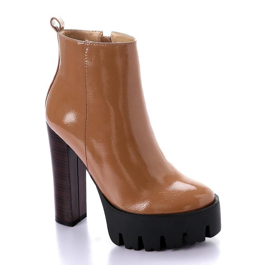 3283 Half Boot -Cafe