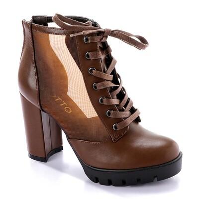 3285 Half Boot -Brown