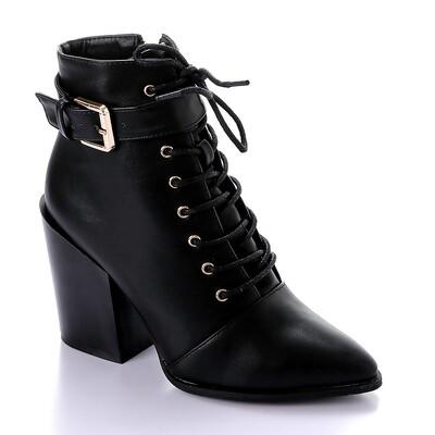 3287  Half Boot -Black