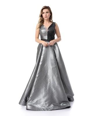 8479 - Soiree Dress - silver