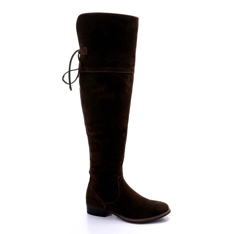 3411 Knee High Boot - Dark Brown su