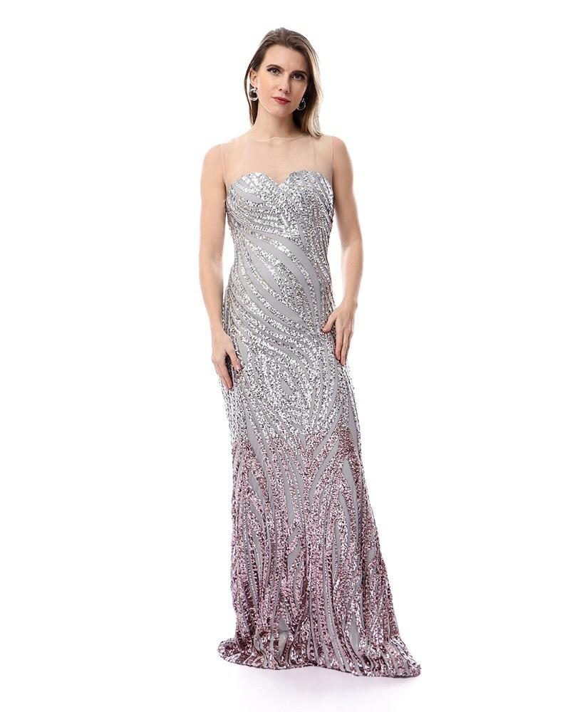 8481 Soiree Dress - Gray