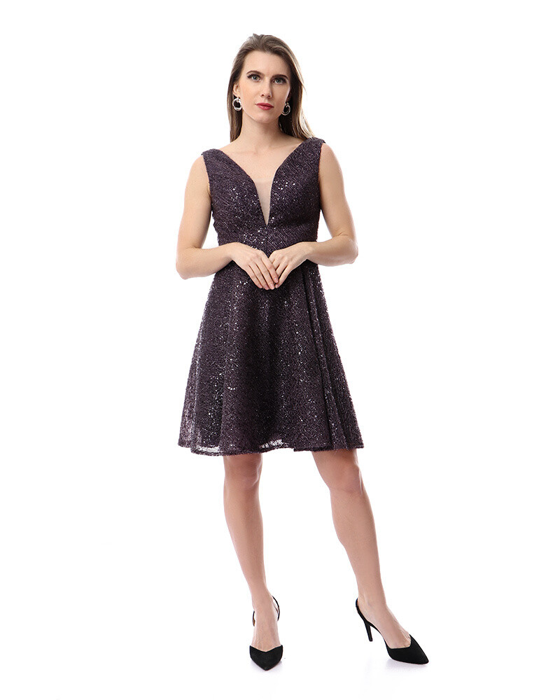 8484 Soiree Dress - Dark Purple