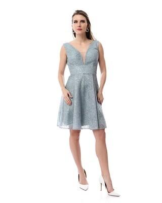 8484 Soiree Dress - Byba Blue
