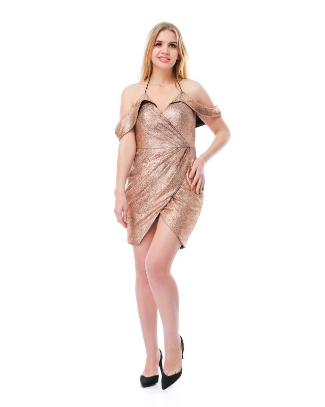 8503 Soiree Dress - Copper
