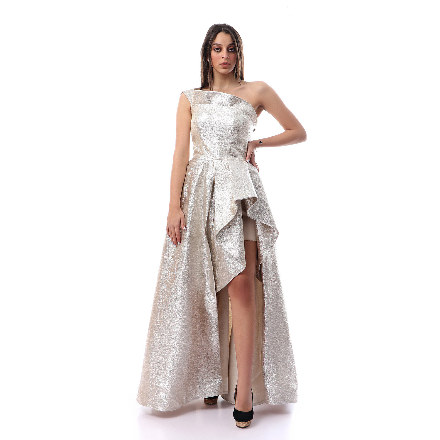 8460 Soiree Dress - Silver