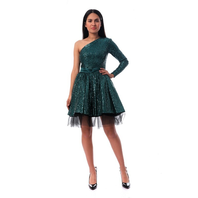 8511 Soiree Dress - Dark Green