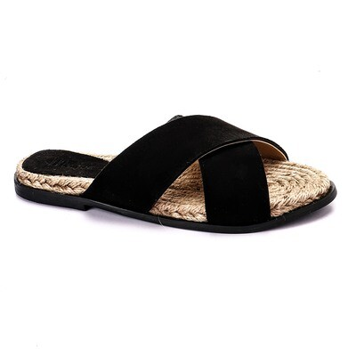 3395 Slipper - Black Suede