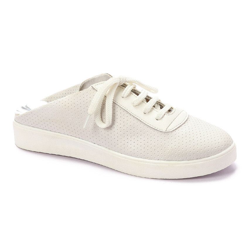 3279 Casual Sneakers - White dotted